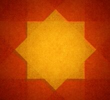 Red and yellow star pattern Sticker
