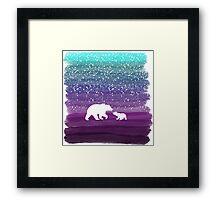 Bears from the Purple Dream Framed Print