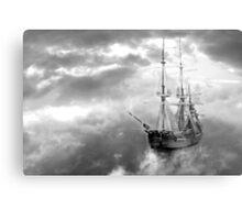 Neverland Ship (B&W) Metal Print