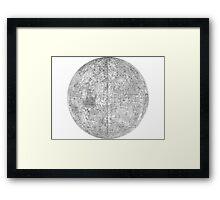 Moonmap bw Framed Print