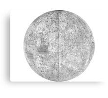 Moonmap bw Canvas Print