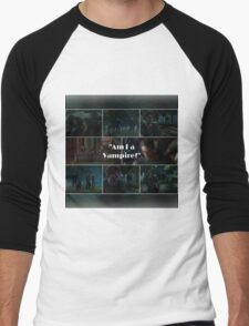 Am I a Vampire?- Simon Lewis.  Men's Baseball ¾ T-Shirt
