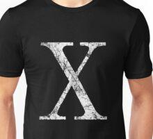 Chi Greek Letter Symbol Grunge Style Unisex T-Shirt