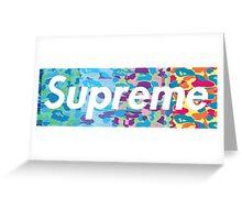 Supreme X Bape rainbow camo Greeting Card