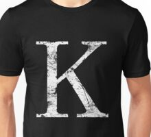 Kappa Greek Letter Symbol Grunge Style Unisex T-Shirt
