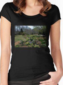 A Botanical Garden View Women's Fitted Scoop T-Shirt