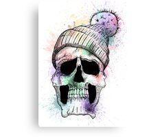 Pastel Skull on White Canvas Print