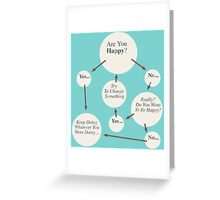 Are You Happy? Greeting Card