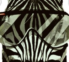 Hipster Zebra Sticker
