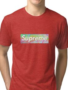 Supreme Oil Spill Tri-blend T-Shirt