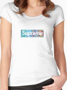 Supreme X Bape rainbow camo Women's Fitted Scoop T-Shirt