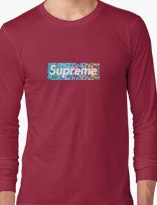 Supreme X Bape rainbow camo Long Sleeve T-Shirt