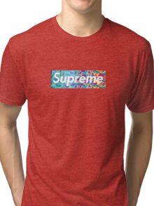 Supreme X Bape rainbow camo Tri-blend T-Shirt