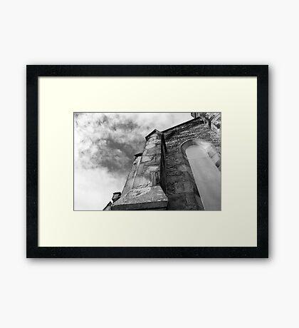 Phantasmagoria ~ Black & White Gothic Church Image  ~ St Mary's Church, Bagillt Framed Print
