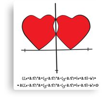 Two geek hearts  Canvas Print