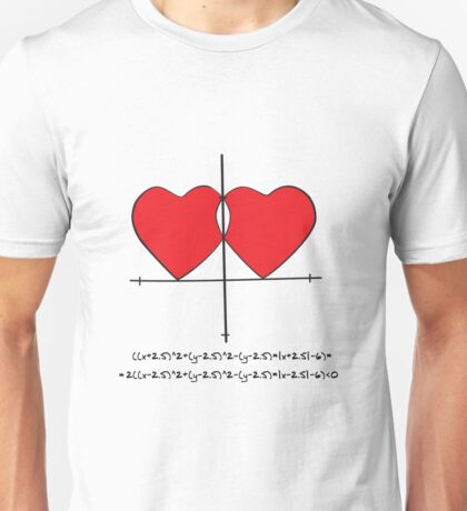 Two geek hearts  Unisex T-Shirt