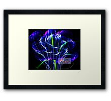 3d bloom in the grass Framed Print