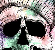 Pastel Skull on Orange Sticker