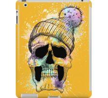 Pastel Skull on Orange iPad Case/Skin