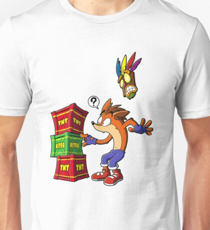 Crash Bandicoot and the crates Unisex T-Shirt