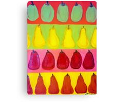 Endless Pears Canvas Print