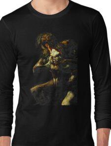 Saturn Devouring His Son - Francisco Goya Long Sleeve T-Shirt