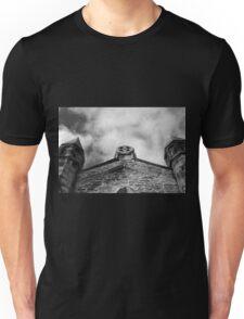 Phantasmagoria ~ Black & White Gothic Church Image ~ St Mary's Church, Bagillt Unisex T-Shirt