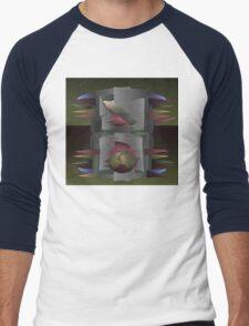Gray Mantle Men's Baseball ¾ T-Shirt