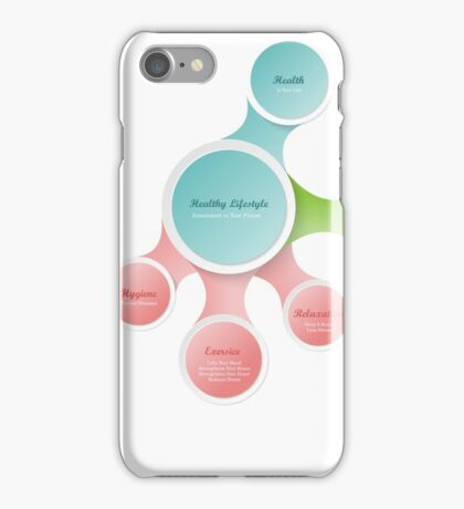 Healthy Lifestyle infographics iPhone Case/Skin