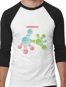 Healthy Lifestyle infographics Men's Baseball ¾ T-Shirt