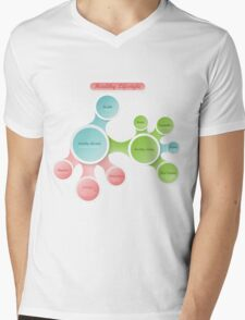 Healthy Lifestyle infographics Mens V-Neck T-Shirt