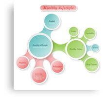 Healthy Lifestyle infographics Metal Print