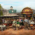 Animal - Goats - Coney Island NY - Kid rides 1904 by Mike  Savad