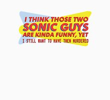 I think those two Sonic guys are kinda funny.... Unisex T-Shirt
