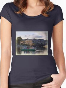 Ferry Boat at Exeter Quay Women's Fitted Scoop T-Shirt