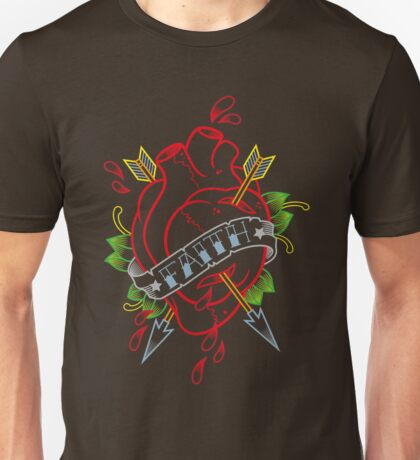 Traditional heart with banner tattoo Unisex T-Shirt