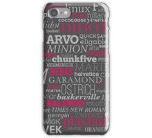 Typefaces Design (2/6) iPhone Case/Skin