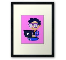 Cute Hipster Geek Framed Print