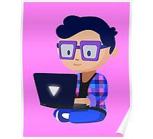 Cute Hipster Geek Poster