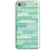 Typefaces Design (3/6) iPhone Case/Skin