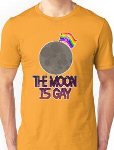The moon is gay(lesbian flag) Unisex T-Shirt