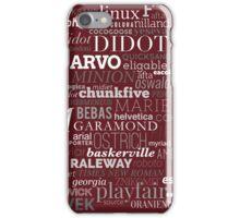 Typefaces Design (5/6) iPhone Case/Skin