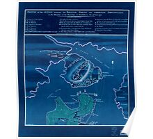 American Revolutionary War Era Maps 1750-1786 881 Sketch of the action between the British forces and American provincials on the heights of the peninsula of Inverted Poster