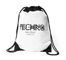 TECHNO MUSIC Drawstring Bag