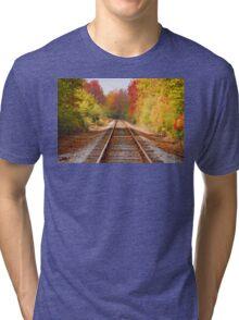 Fading Tracks Tri-blend T-Shirt