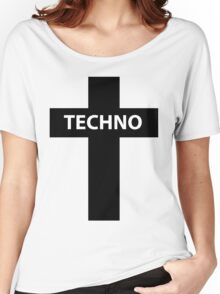 TECHNO MUSIC Women's Relaxed Fit T-Shirt