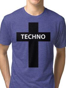 TECHNO MUSIC Tri-blend T-Shirt