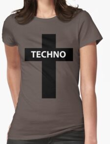 TECHNO MUSIC Womens Fitted T-Shirt