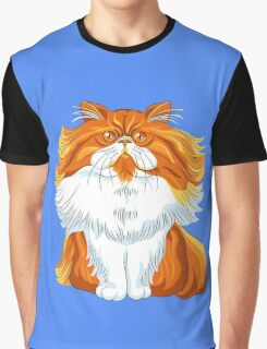 Cute red fluffy Persian cat  Graphic T-Shirt