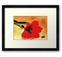 Meet Me in the Tulips Framed Print